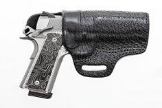 "Stickman's ""Colt 1911 w/ Wilson Combat Sharkskin Holster and Dahmer Arms Grips"""