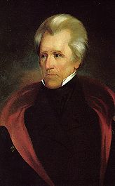 Here is the official White House portrait of Andrew Jackson. Seventh President   Born 1767 - Died 1845 - Served 1829-1837