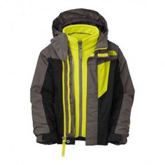 bde08ace2911 CN12 The North Face Toddler Boys Vortex Triclimate Jacket Medieval Grey 3 In  1 Jacket