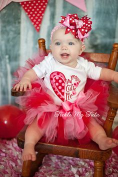 Valentine Cutie Pie Tutu Outfit My First by TickleMyTutu on Etsy, $54.95