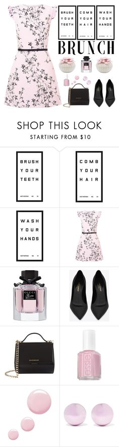 """Motherisms"" by kimzarad1 ❤ liked on Polyvore featuring Pottery Barn, Miss Selfridge, Gucci, Yves Saint Laurent, Givenchy, Essie, Topshop, J.W. Anderson, MothersDay and brunch"