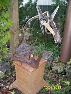 Spirits in Steel, METAL HORSE  ..freeform horse sculpture by mark Olmstead of Post Falls Idaho  $1200.00