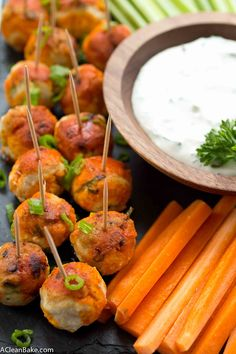 Buffalo Chicken Meatballs from the All-American Paleo Table