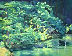 "Allerton Park Melody by Caroline Goldsmith Oil ~ 24"" x 36"""