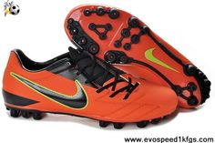 newest collection 87d89 93034 Authentic Man Nike Total 90 Shoot IV AG in Orange Black Yellow Football  Boots