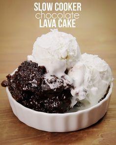 Chocolate Lava Cake Slow Cooker Tasty