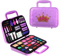 Little Girl Makeup Kit, Makeup Kit For Kids, Kids Makeup, Little Girl Gifts, Doll Makeup, Makeup Set, Little Girls, Barbie Pegasus, Good Beauty Routine