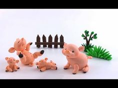 ▶ LETS CLAY! Piglet tutorial - polymer clay - YouTube