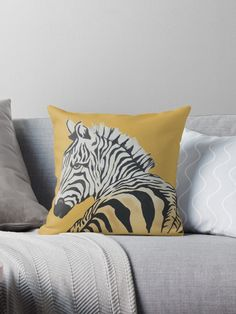Zebra in the zone Throw Pillows, House, Ideas, Toss Pillows, Cushions, Home, Decorative Pillows, Decor Pillows, Thoughts
