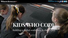 Kids who code, Weekend Australian
