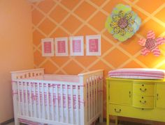 Project Nursery Orange And Pink Bright