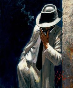 Man in a White Suit by Fabian Perez- classic.....Ed Harris could pull this off.