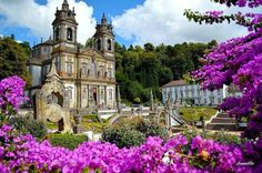 "forphotolovers: "" Sanctuary of Bom Jesus do Monte, Braga, Portugal (photo by Joaquim Alves). Braga Portugal, Visit Portugal, Spain And Portugal, Portugal Travel, Portugal Country, Places To Travel, Places To Visit, Cool Pictures, Cool Photos"