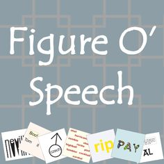 Figure O'Speech is a visual word puzzle game.  You try to guess what name, title, or phrase the word pictures represent.  Solve enough puzzles and you unlock further sets.  The game tests your lateral and creative thinking, and has a simple and straightforward gameplay.  Amazon link: http://www.amazon.com/App-titude-Games-Figure-OSpeech/dp/B00F5NWBJU/ref=sr_1_2?ie=UTF8&qid=1379346650&sr=8-2&keywords=figure+o%27speech