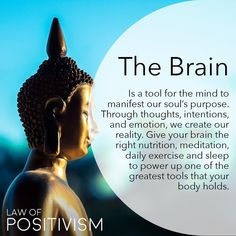 Our mind is our tool, not our obstacle. So we need to master this tool in order for the Ego not to master it for us. Mind is truly highlighted this month with a lot of Gemini and Sagittarius influences (full moon tomorrow) and we need to embrace our think Spiritual Enlightenment, Spiritual Wisdom, Spiritual Growth, Spiritual Awakening, Reiki, Positive Energie, Buddhist Quotes, Buddha Quote, Mind Body Soul