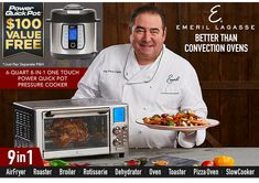 Emeril Power Air Fryer Better Than Convection Ovens Powerairfryer360 Com Convection Oven