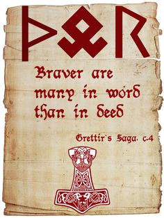 ☆ Viking Quote 32 :¦: By SkaldicProductions ☆