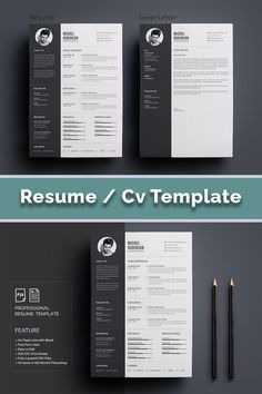 RESUME is the perfect way to make the best impression. Strong typographic structure and very easy to use and customize this cv. Clean and Simple CV/Resume & Cover Letter Cv Simple, Modern Cv Template, My Cv, Creative Cv, Cv Design, Cover Letter For Resume, Resume Cv, Professional Resume, Paper Size