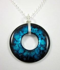Custom Handcrafted Washer Necklace up for. Polymer Clay Jewelry, Resin Jewelry, Jewelry Crafts, Beaded Jewelry, Bullet Jewelry, Jewelry Ideas, Jewlery, Jewelry Necklaces, Stamped Jewelry