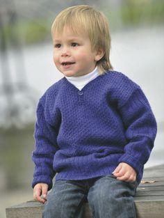 Strikket sweater med slids