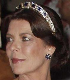 Tiara Mania: Princess Caroline of Monaco's Sapphire Necklace Tiara