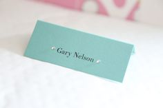 Tiffany Place Cards - Vintage Wedding Stationery Scotland - VOWS Award Nominee 2013
