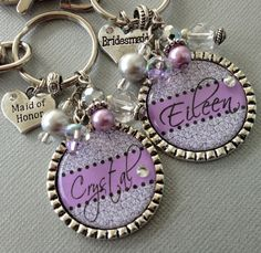 Bridesmaid gift Maid of honor gift PERSONALIZED by buttonit, $19.50