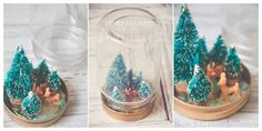 Anthropology inspired snow globes i love these little mason jar snow
