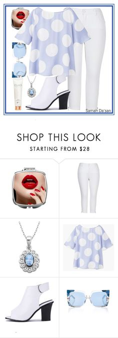 """""""💙"""" by samahdasan ❤ liked on Polyvore featuring Melissa McCarthy Seven7, Lord & Taylor, MANGO, Pared, OJAS and plus size clothing"""