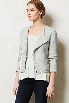 shimmered tweed moto jacket / anthropologie
