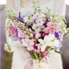 A gorgeous lavender and silver reader requested wedding inspiration board! (image via Ruffled)