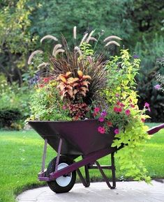55+ Unique Container Gardening Ideas_23 #uniquecontainergardeningideas #fallgardentips