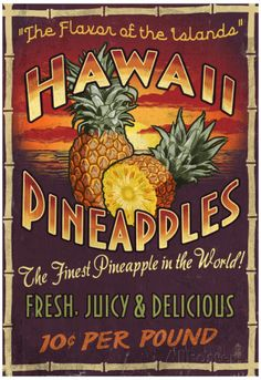 Hawaiian Pineapple Posters at AllPosters.com