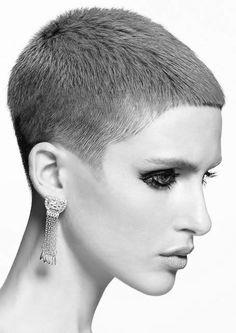 short hair and similar Chic Short Hair, Super Short Hair, Short Hair Cuts, Short Hair Styles, Pixie Cuts, Short Pixie, Buzzed Hair, Bouffant Hair, Shaved Hair