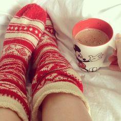 Cozy socks http://www.femguide.com/10-quick-things-to-make-winter-more-enjoyable_19178
