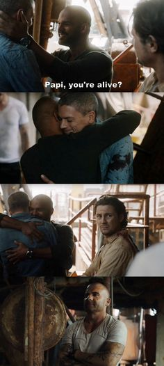 """Papi, you're alive?"" - Michael, Sucre, Whip and Lincoln #PrisonBreak"