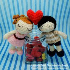 Valentine's Couple (Boy & Girl) Pattern. $7.00
