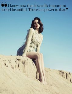 Lana Del Rey Fashion Canada Summer 2013 issue Photographed by Mark Williams Ruffle Sheer Long Sleeve Romper Jumpsuit