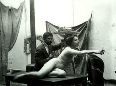 Artist and Model ..Alfons Mucha, 1890
