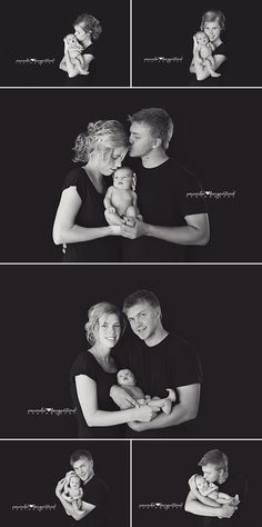 Newborn Girl Mom and Dad Photography
