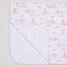A lovely baby blanket from Kissy Kissy Forest Fairyland collection. Made from soft organic pima cotton, gentle on baby's delicate skin.