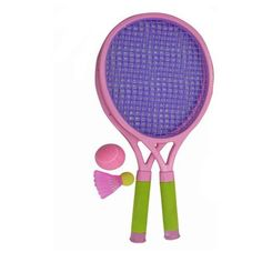 WeGlow International Jeanie Sport Tennis Set by WeGlow International. $15.98. From the Manufacturer                Your child will have loads of fun with this Sports Set. From tennis to badminton, your child we enjoy spending some time outside with this toy. Colors May Vary Includes 2 racquets, 1 badminton ball, 1 rubbery tennis ball and bag for storage and handling. Racquets have a soft grip pad that makes holding the racket more comfortable. Great bright colors. ...