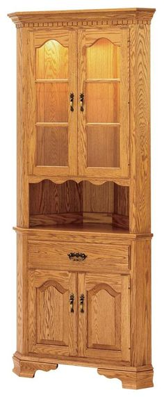 "Brookville 25.5"" American Made Corner Hutch - Keystone Collection"