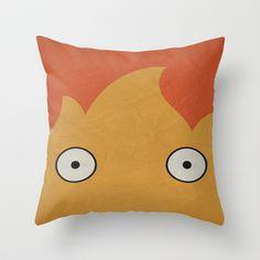 Howl's Moving Castle Calicifer Throw Pillow @Peety Goring Giammalva @Sofia Nordgren Giammalva
