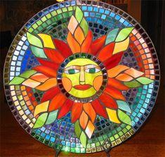 Sun mosaid, rainbow, art