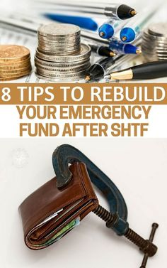 8 Tips to Rebuild Your Emergency Fund After SHTF - Whether you're facing an unexpected financial emergency or have just overcome the horrors of a hurricane, flood or another natural disaster; employing the above tips can help you get back on track and more importantly, back to being prepared #prepping #preparedness #prepper #survival #shtf