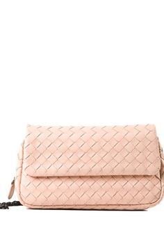 BOTTEGA VENETA Pink Nappa Leather Intreccio Crossbody Bag #alducadaosta #newarrivals #spring #summer #women #fashion #style #accessories #apparel #bottegaveneta