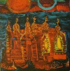 Hänen luostarinsa olivat pohjoisen valtameren luostareita ja noissa luostarimaalauksissa näkyy myös kristinuskoa edeltäneen ajan luonnonuskontojen symboleja, kuten linnunjalka. Finland, Pictures, Trees, Houses, Painting, Inspiration, Art, Photos, Homes