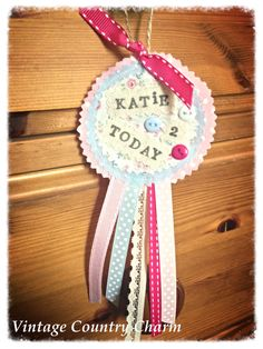 Birthday rosette dangly x