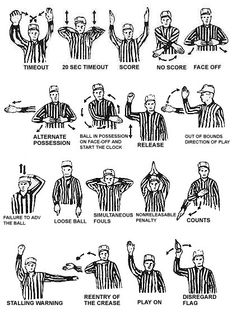 Football Referee Hand Signals Sports Fans Football